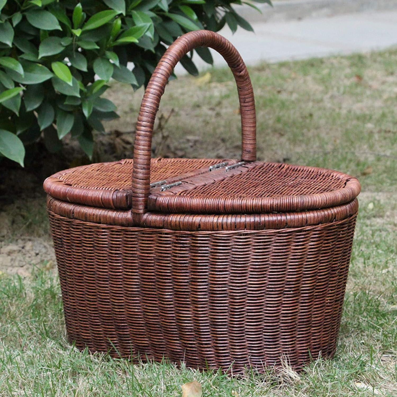 Bargain sale Picnic Basket Wicker Rurality Mesa Mall Bas Baskets