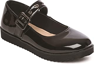 Buckle My Shoe Girls Brogue Shoe Black Leather Shoe
