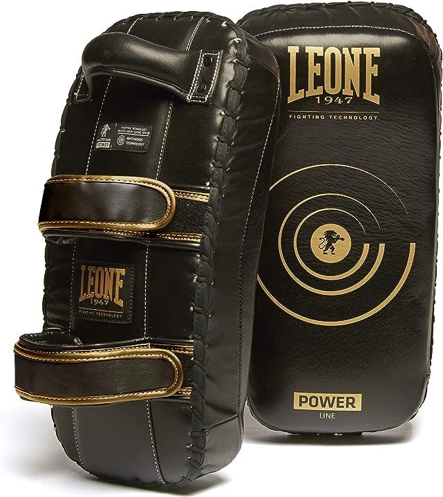 Paracolpi boxe - leone 1947 - gm420 pao power line maestro protection, nero, taglia unica, 1 paio (2 pezzi)