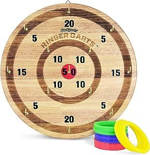 GoSports Ringer Darts Toss Game | Indoor Outdoor Hook Ring Toss Set for Kids & Adults