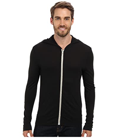 Alternative L/S Zip Hoodie (Eco True Black) Men