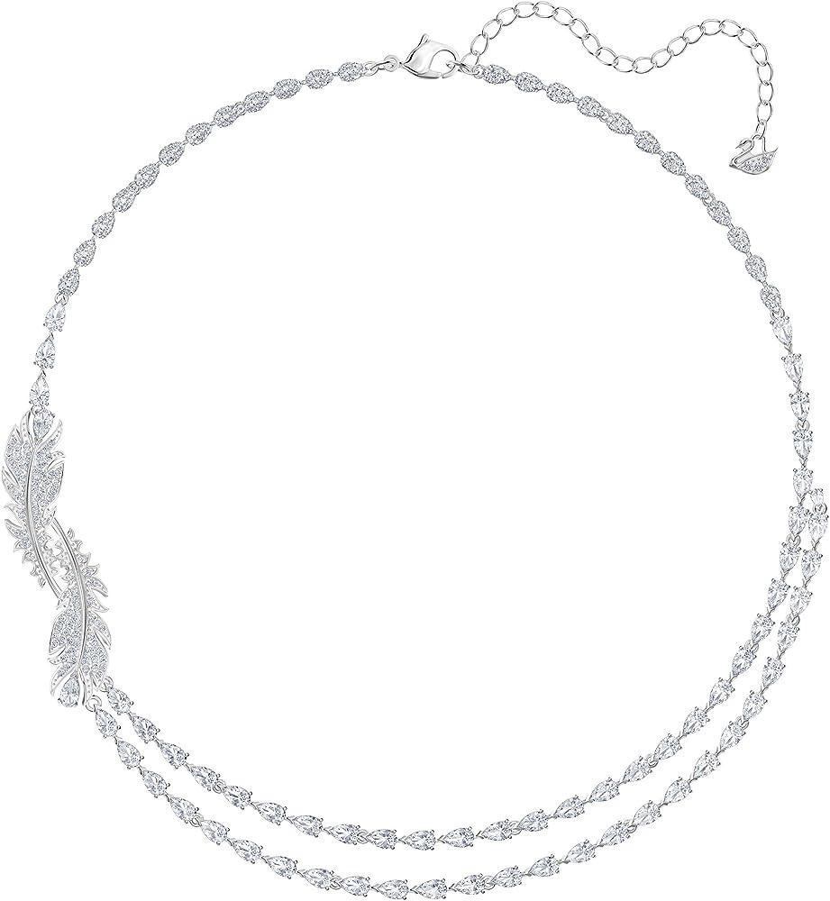 Collana da donna di swarovski della collezione nice.in lega di metalli  placcatura rodio e swarovski 5493404