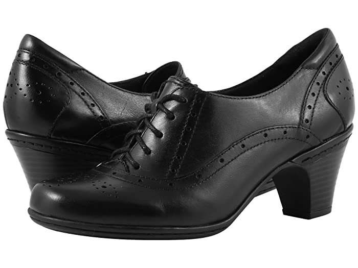 How to Wear 1940s Women's Fashion Rockport Cobb Hill Collection Cobb Hill Shayla Black Womens Lace up casual Shoes $89.95 AT vintagedancer.com