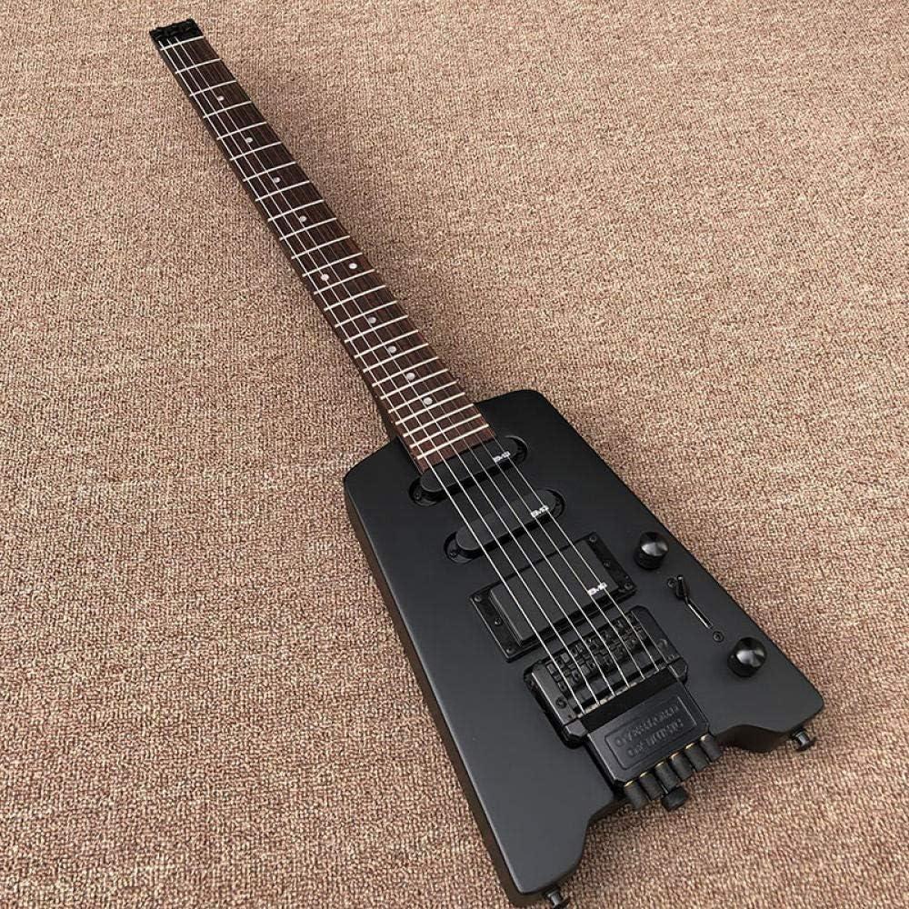 YYYSHOPP Guitarras y Engranajes Guitarra Eléctrica Sin Cabeza Black Matte Paint Guitarra Eléctrica Guitarra Eléctrica Guitarras clásicas (Color : Guitar, Size : 38 Inches)