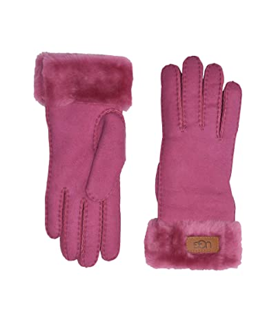 UGG Turn Cuff Water Resistant Sheepskin Gloves (Fuchsia) Extreme Cold Weather Gloves
