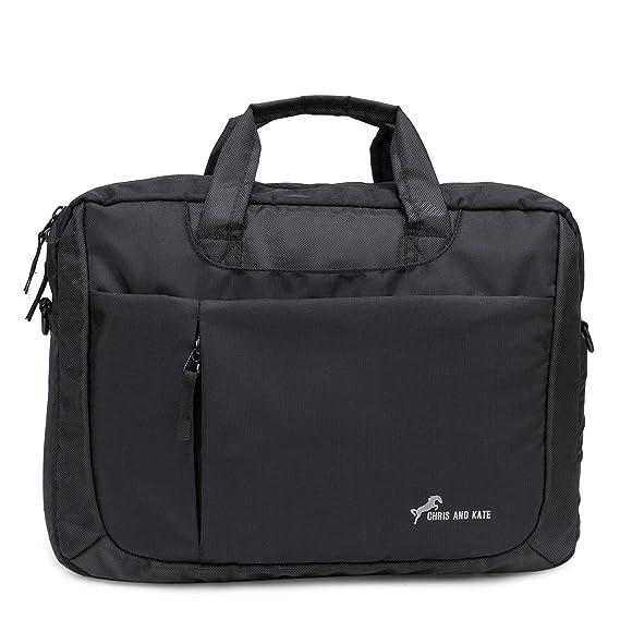 Chris & Kate Multi-use, Multi-Way Black Laptop Bag, Messenger Bag, Backpack, Sling Bag, Shoulder Bag, Laptop Messenger Bag