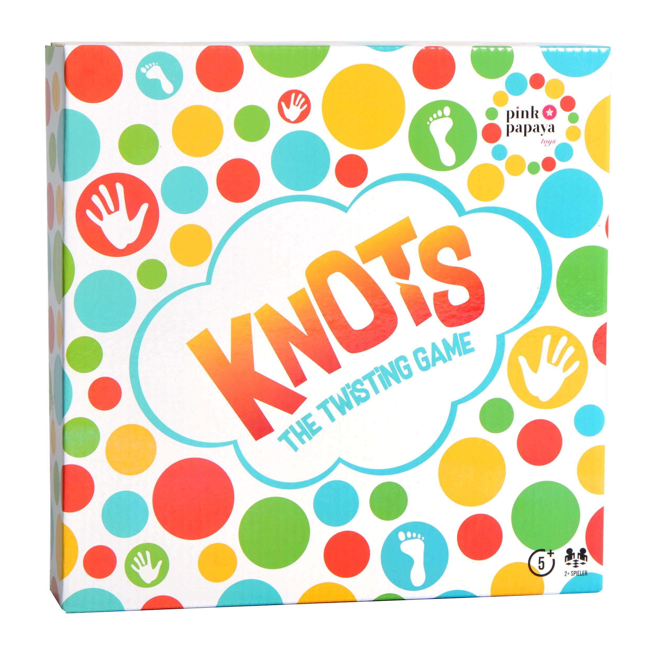 Pink Papaya Juego para Fiestas Knots – Divertido Juego de Enredos Familiar – Juego de Suelo con Tapete de Juego – Juego de Habilidad para Niños y Adultos: Amazon.es: Juguetes y juegos