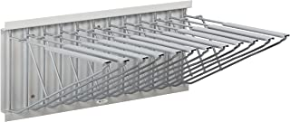 Adir Corp. Pivot Wall Rack with Hangers for Blueprints - Plans, Sand Beige