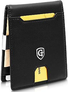 GenTo® Mens Designer Wallet New York con Pinza para Billetes sin Monedero - Aprobado por el TÜV, protección NFC Design Ger...