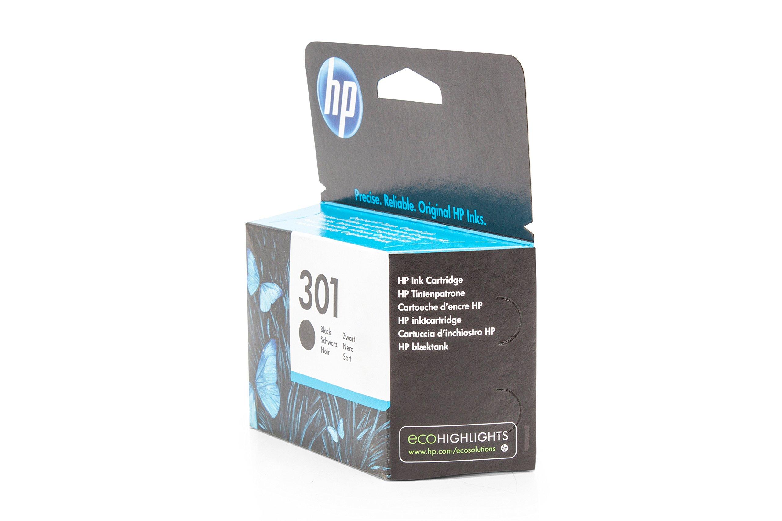 HP 301 Black Ink Cartridge - Cartucho de tinta para impresoras ...