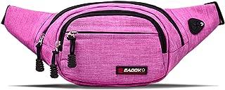 Water Resistance Travel Belt,Big Fanny Pack for Outdoor Sport/Money Belt