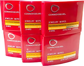 Connoisseurs Jewelry Dry Disposable Wipes 25 Count (6 Pack)