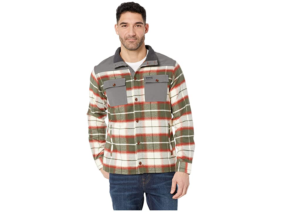 Columbia Deschutes Rivertm Shirt Jacket (Rusty Large Plaid) Men