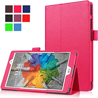 Asng LG G Pad X 8.0 / G Pad III 8.0 Case - Slim Folding Stand Cover Smart Case for LG G Pad X 8.0 (V521) / AT&T (V520) / LG G Pad III 8.0 (V525) 8-Inch Tablet (Rose red)