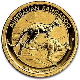 2018 AU Australia 1/4 oz Gold Kangaroo BU (1/4) Brilliant Uncirculated
