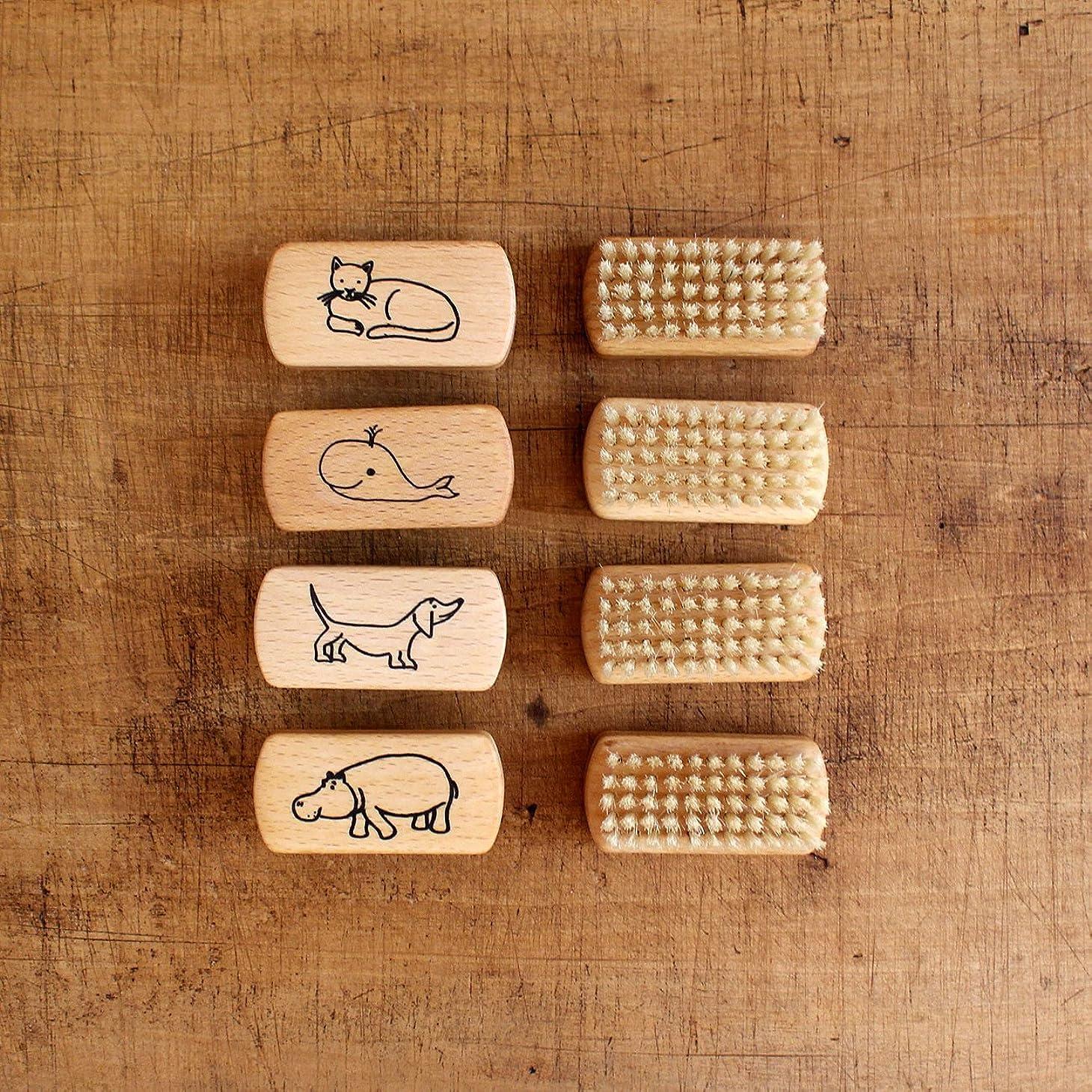 適合電子松の木Redecker レデッカー 子供ネイルブラシ
