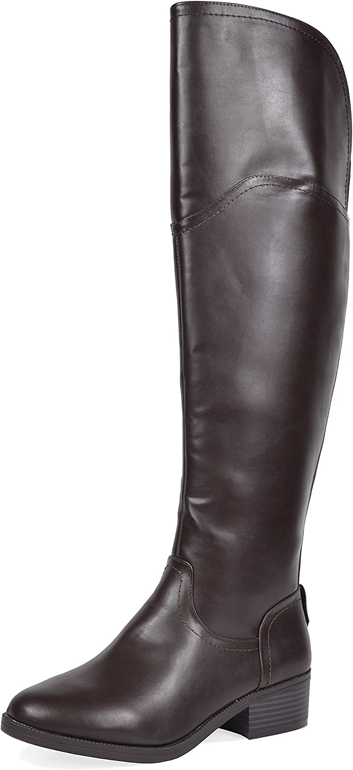 TOETOS Women's Hope Brown Over The Knee Riding Boots Size 11 M US