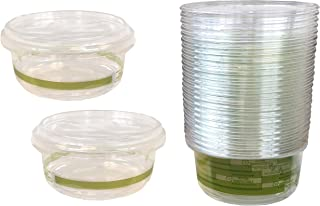 PLA Round Deli Containers - 12 Ounce - Compostable - 25 Containers and Lids