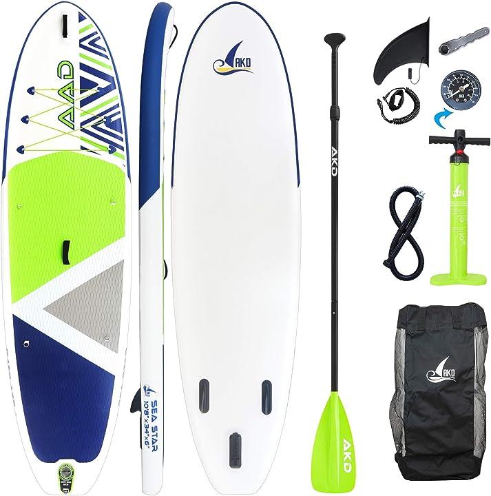 Paddle board 325x86x15cm 2 posti tavola gonfiabile mare 165kg / 346l, pompa con manometro, pagaia in alluminio B08L7MR43F
