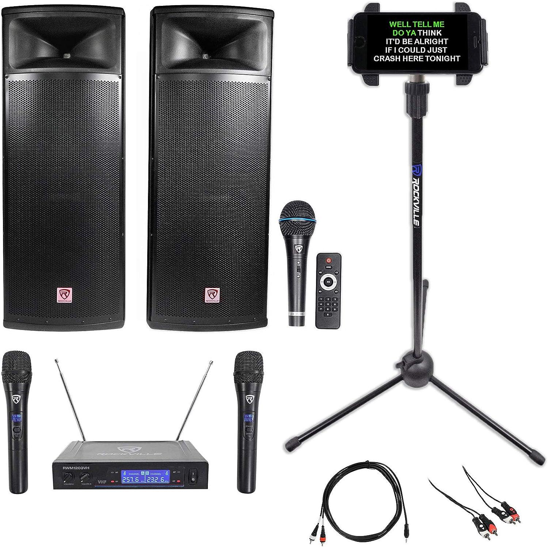 Rockville Pro Gig Karaoke Machine System w Ranking Under blast sales TOP17 Dual 15