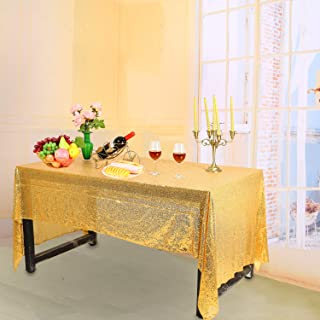 Best 132 round gold sequin tablecloth Reviews