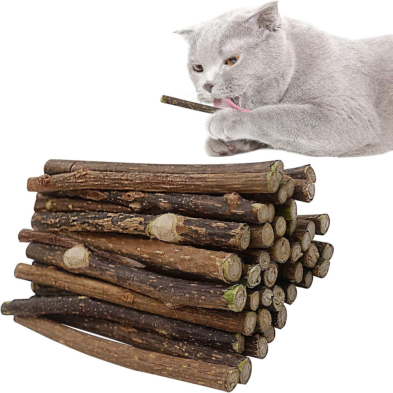 Lepawit OFFicial Ranking integrated 1st place site 40Pcs Natural Cat Matatabi Silvervine Sticks Catnip Stic