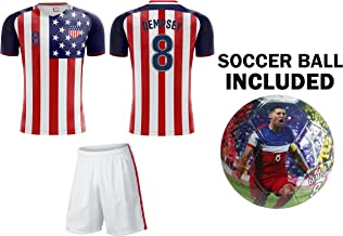 Icon Sports Group Team USA World Cup 2018 United States Youth Soccer Jersey + Shorts + Soccer Ball - Pick Any Name