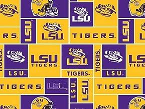 Louisiana State University Tigers Fleece Fabric - 60