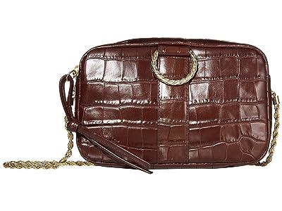 Loeffler Randall Chiara Twisted Ring Camera Crossbody (Chocolate) Handbags
