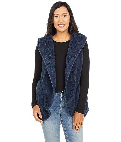 Dylan by True Grit Dream Pile Oversized Cozy Vest (Navy) Women