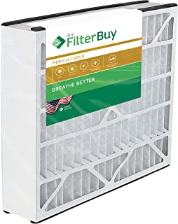 FilterBuy 16x25x3 Air Bear Trion 229990-101 Compatible Pleated AC Furnace Air Filters (MERV 11, AFB Gold). 1 Pack.