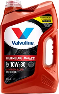 Best Valvoline High Mileage with MaxLife Technology SAE 10W-30 Synthetic Blend Motor Oil 5 QT Review