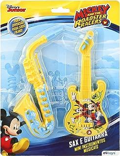 Guitarra e Saxofone Mickey Etitoys Azul/Amarelo