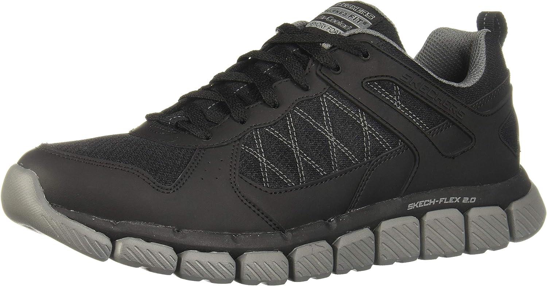 Skechers Mens Skech-Flex 2.0 - High Knoll Black Charcoal 10.5 D - Medium