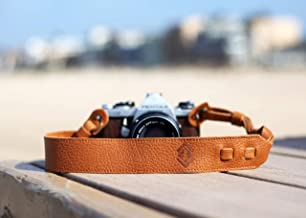 TETHER's Tan Leather Camera Strap for DSLR or SLR Camera, DSLR Camera Strap. Camera Accessories. Canon Camera Strap. Nikon Camera Strap (Tan)