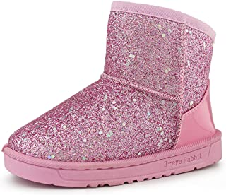 Sponsored Ad - Hawkwell Baby Girls Cotton Lining Glitter Warm Winter Snow Boots (Toddler/Little Kids)