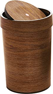 Royalford RF8694 16 Liters Wood/Polymer Easy To Use - Stylish - Durable Design Dust Bin with Swing top Lid Perfect for Hom...