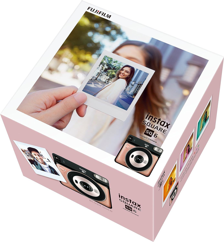 Square Color Azul Agua Fujifilm instax Square pel/ícula instant/ánea Borde Blanco Fujifilm Instax SQ6 C/ámara Anal/ógica Instant/ánea Formato Cuadrado 10 Fotos