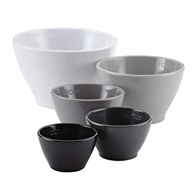 Rachael Ray Tools and Gadgets Nesting / Stackable Measuring Cups Set - 5 Piece, Assorted Colors