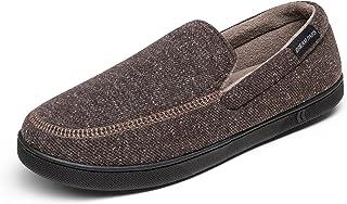 Men's Memory Foam Cozy Coral Velvet Lining House Shoes...