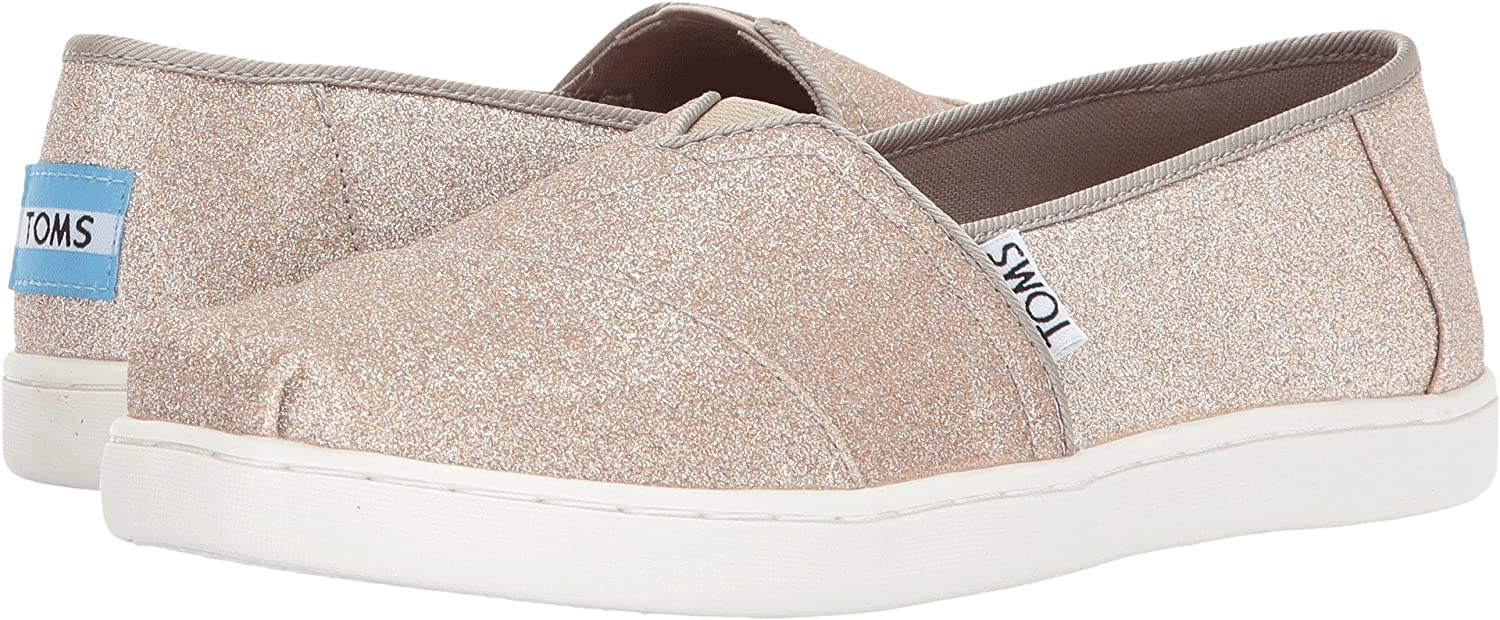 TOMS Youth Classic Rose Gold Glimmer Canvas Shoes