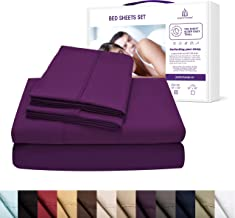 PerfectSense Bed Sheets Set 4 Piece 1500 Thread Count Luxury Soft Breathable Hypoallergenic Bedding Set 18 Deep Pocket Wrinkle Free & Machine Washable Camel, Queen Bed Set