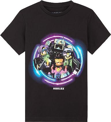Roblox Camiseta Niño, Ropa Niño 100% Algodon, Camisetas Niño Manga Corta Negro