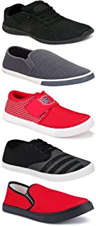 WORLD WEAR FOOTWEAR Sports Running Shoes/Casual/Sneakers/Loafers Shoes for MenMulticolors (Combo-(5)-1219-1221-1140-725-1018)