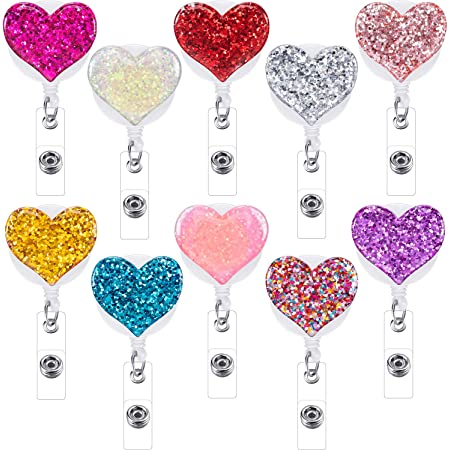 "30/"" Neck Chain Fits 21//2/"" wide x 3.25/"" bad Universal Heart Badge Clip On Pants"