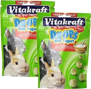 Vitakraft Rabbit Drops and 5.3-Ounce Pouch, Yogurt Drops (2-Pack)