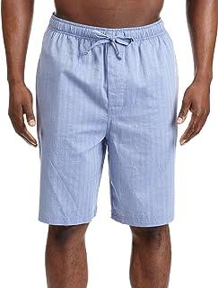 Nautica Men's Soft Woven 100% Cotton Elastic Waistband Sleep Pajama Short Bottom, Blue Bone, Large