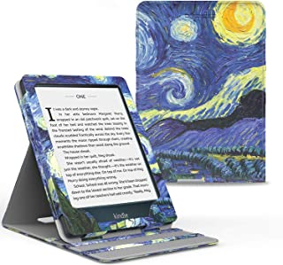 MoKo Case Fits Kindle Paperwhite (10th Generation, 2018 Releases), Premium Vertical Flip Cover with Auto Wake/Sleep Compatible for Amazon Kindle Paperwhite 2018 E-Reader - Starry Night