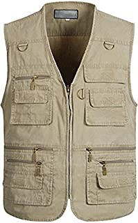Alipolo Vest Mens Summer Cotton Leisure Outdoor Plus Size Fish Vest
