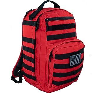 کوله پشتی LINE2design First Aid Trauma - تجهیزات EMS تجهیزات پزشکی اورژانس کیسه مولی تاکتیکی - بسته نجات در فضای باز ورزش های سنگین - مناسب برای پیاده روی در کمپینگ - قرمز